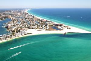 Click to enlarge image  - Destin Pass and the Harbor from above - March 15, 2011